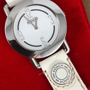 Vintage Coach Curvature White on White Swiss Watch